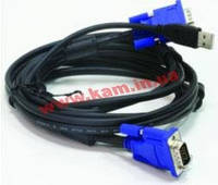 Комплект кабелей D-Link DKVM-CU3 для KVM-переключателей с USB, 3м (DKVM-CU3)