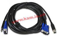 Комплект кабелей D-Link DKVM-CU для KVM-переключателей с USB, 1.8м (DKVM-CU)