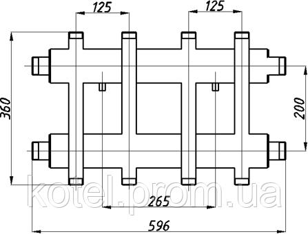 Схема распределительного коллектора в изоляции Termojet СК 272.125