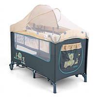 Кровать-манеж Milly Mally Mirage Deluxe 2015 цвет - blue toys Del03