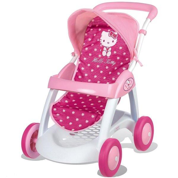 Коляска прогулочная для куклы Smoby Hello Kitty 510134