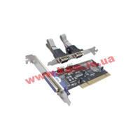 Контроллер STLab RS232(COM) + LPT(centronic) каналов: 2+1 PCI 32bit 33/ 66MHz (I-420)