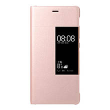 Чехол книжка Кожа Huawei Smart View Window для Huawei P9 Plus розовый