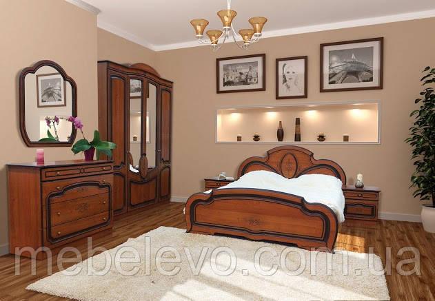 Спальня Полина комплект 4Д орех патина Світ Меблів