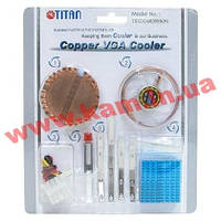 Кулер Titan TTC-CUV2AB/LD2(DIY) Кit for VGA chip, Вall, с синей подсветкой Tit (TTC-CUV2AB/LD2(DIY))