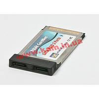 Контроллер Maxxtro NPES-2, PCMCIA eSATA, 2 ports