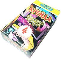 Мелки цветные ЛЮКС КОЛОР (4 цвета) квадратные, для детского творчества
