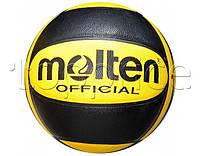 Мяч баскетбольный MOLTEN, чёрно-жёлтый. Модель Adidas.