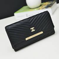 Кошелек клатч Chanel black реплика