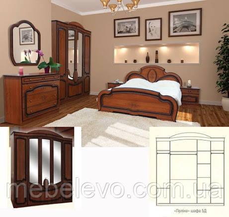 Спальня Полина комплект 5Д орех патина Світ Меблів