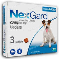 Merial NexGard для собак M (4-10кг) 1 таблетка
