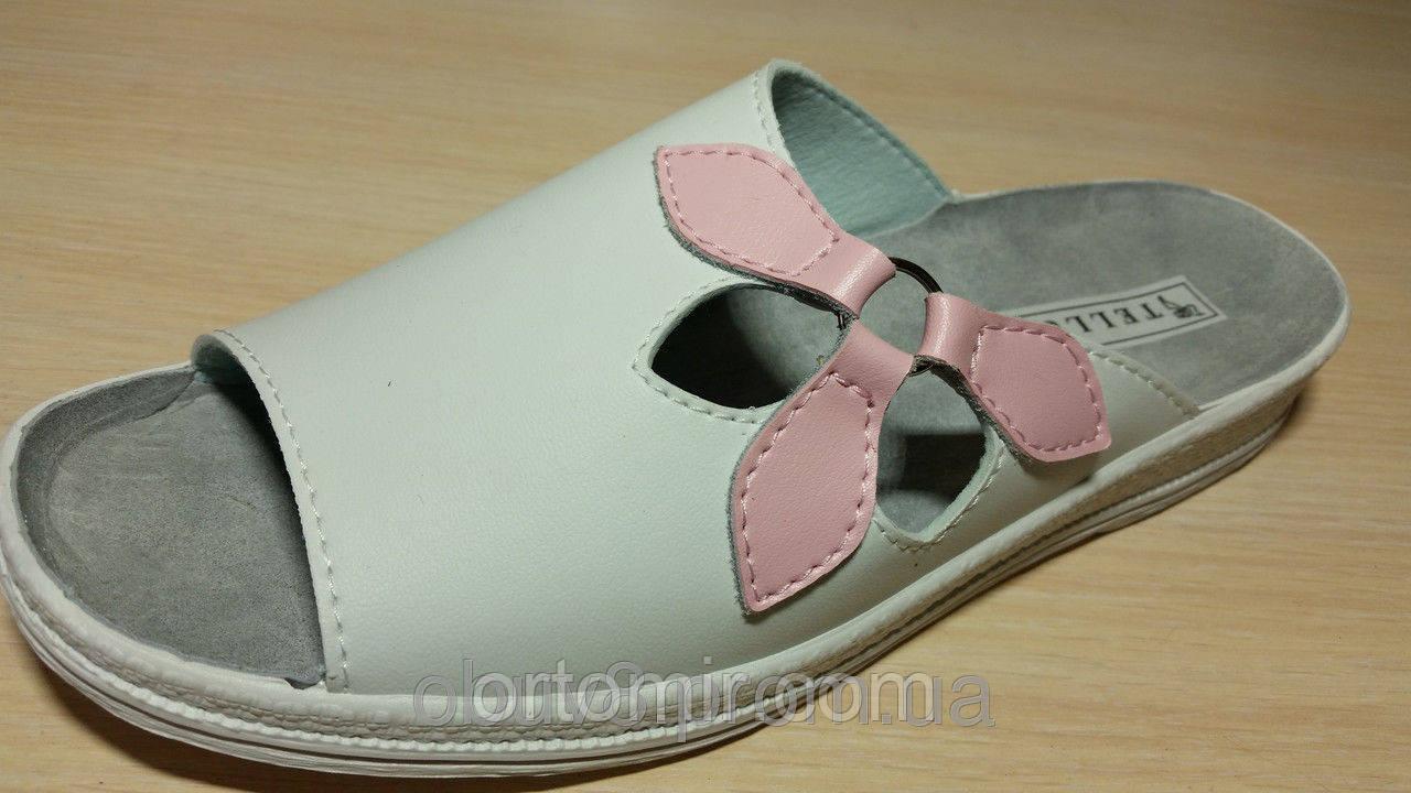 Тапочки медицинские  белые  с открытым носком летние