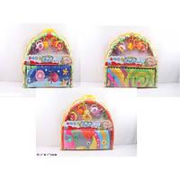 Коврик для малышей 895-123A  с погремушками на дуге, в сумке 52-56-5 см