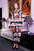 Модный женский костюм с принтом розы | Розы-горох Костюм №1