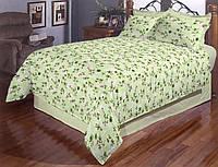 Сімейна постільна білизна бязь голд - Дзвіночки на зеленому