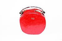 Сумка женская круглая через плечо модная красного цвета, фото 1