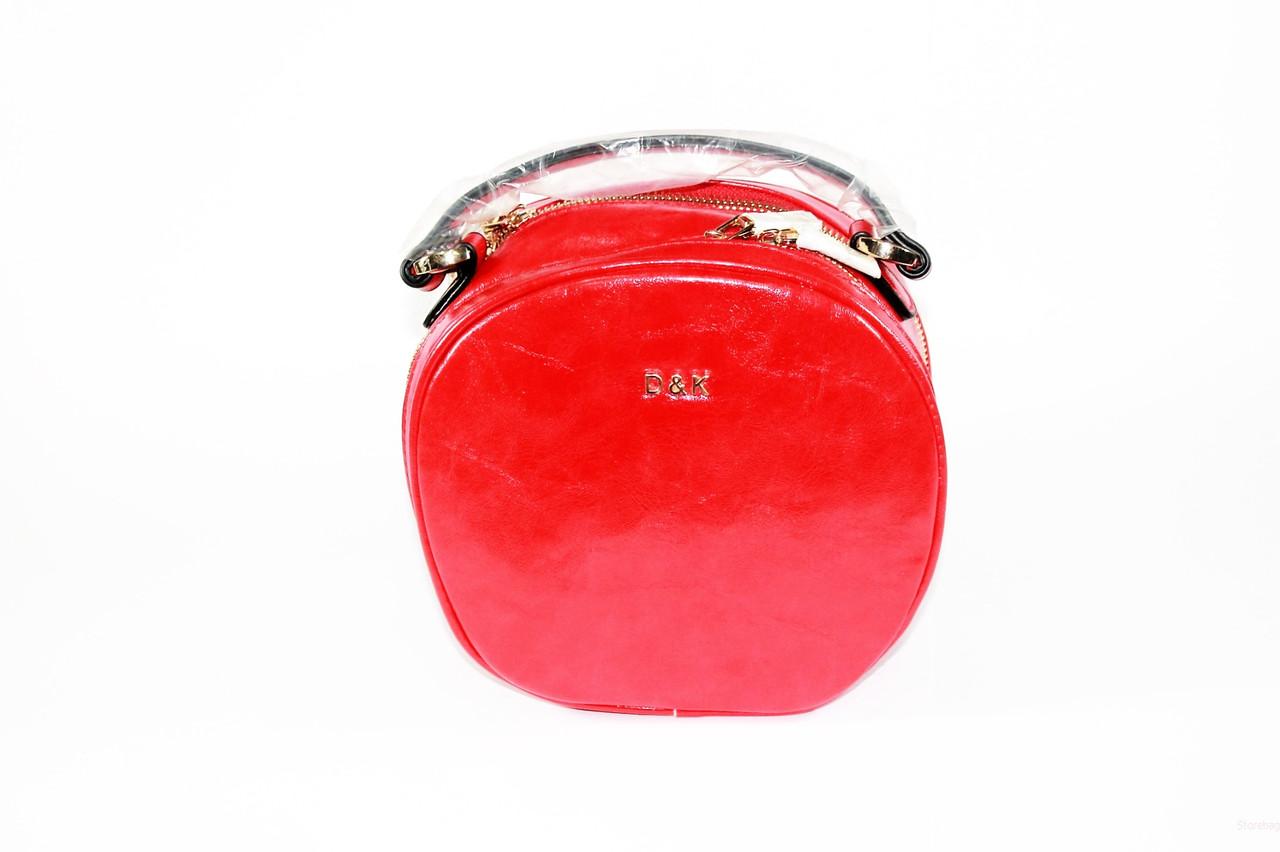 dc97d8cc7835 Сумка женская круглая через плечо модная красного цвета - Интернет- магазин