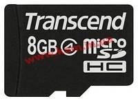 Карта памяти Transcend class 4 (TS8GUSDC4) 8 Гбайт, microSDHC, без преходников (TS8GUSDC4)
