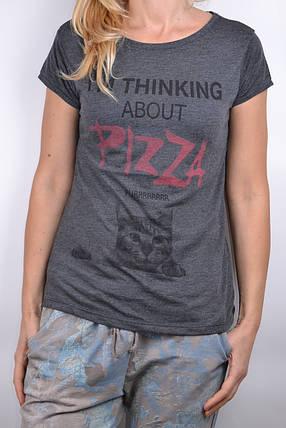 Футболка Pizza Серая (WT1550-07/1) | 4 шт., фото 2