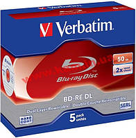 St VERBATIM BD-RE DL 50Gb 2x Jewel 5 pcs 43760 (43760)
