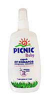 Спрей Picnic Baby от комаров, мокрецов и москитов с экстрактом ромашки - 120 мл.