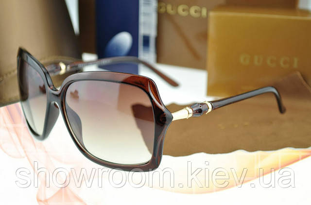 Солнцезащитные очки в стиле GUCCI 3131 (коричневая оправа)
