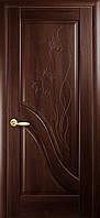 Двери межкомнатные Новый стиль Амата ПГ с гравировкой (каштан)