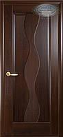 Двери межкомнатные Новый стиль Волна ПГ (каштан)