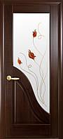 Двери межкомнатные Новый стиль Амата ПО+Р1 (каштан)