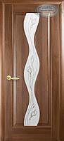 Двери межкомнатные Новый стиль Волна ПО+Р2 (золотая ольха)