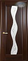 Двери межкомнатные Новый стиль Волна ПО+Р2 (каштан)