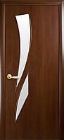 """Дверь межкомнатная """"Камея"""" Орех - стекло сатин (Новый стиль)"""