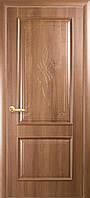"""Дверь межкомнатная глухая """"Вилла"""" - Золотая ольха - с гравировкой (Новый стиль)"""