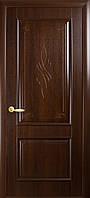 """Дверь межкомнатная глухая """"Вилла"""" - Каштан - с гравировкой (Новый стиль)"""