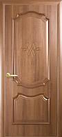 """Дверь межкомнатная глухая """"Рока"""" - Золотая ольха - с гравировкой (Новый стиль)"""