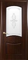 """Дверь межкомнатная """"Донна""""  Каштан - рис. Р1 (Новый стиль)"""