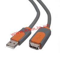 Кабель USB 2.0 (AM/ AF) BELKIN 1.8м (удлинитель) Black/ Чёрный, Blister(E) (F3U153CP1.8M)