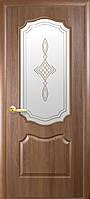 Двери межкомнатные Новый стиль Вензель Золотая ольха ПО+Р1