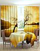 Фотошторы на кухню одинокое дерево