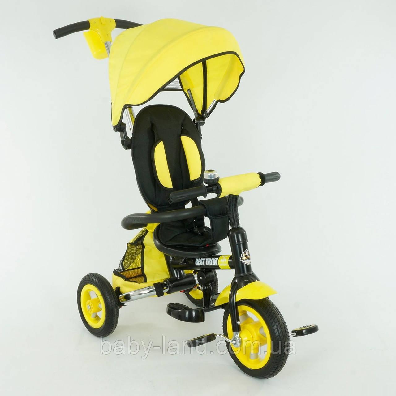 """*Велосипед Best Trike 3-х колёсный с надувными колесами (желтый) арт. 668  - """"Беби Лэнд"""" Интернет-магазин Детских товаров в Запорожье"""