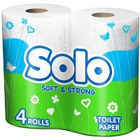 Бумага туалетная белая (4 шт) / SOLO