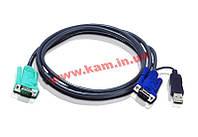ATEN KVM Cable 2L-5203U 3m Кабель KVM 3m SPHD-15/ 1 (2L-5203U)
