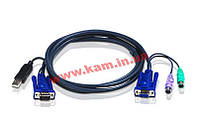 ATEN KVM Cable 2L-5502UP 1,8m Кабель KVM 1.8m 2xPS/ 2 (2L-5502UP)