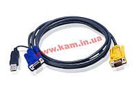 ATEN KVM Cable 2L-5205UP 5m Кабель KVM 5m SPHD-15 (2L-5205UP)
