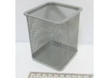 Стакан для ручек J.Otten металлич. 8х8х10см. квадратн. серебр. 1941S (12/96)