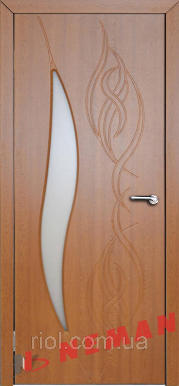Дверь межкомнатная остекленная Сиена