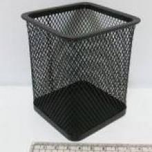 Стакан для ручек J.Otten металлич. 8х8х10см. квадратн. черн. 1941B (12/96)