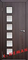 Дверь межкомнатная остекленная Лофт (Орех шоколадный)