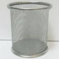 Стакан для ручек J.Otten металлич. сетка 9х9,5см. серебр.