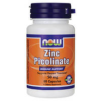 Now Foods, Zinc Picolinate (50 мг), 60 таб.